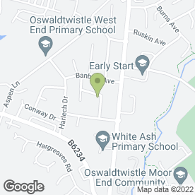 Map of Blades Building Maintenance in Oswaldtwistle, Accrington, lancashire