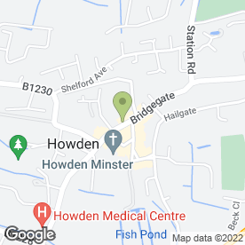 Map of Bowman Hotel in Howden, Goole, north humberside