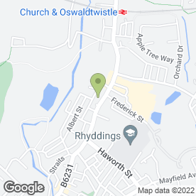 Map of Oswaldtwistle School in Oswaldtwistle, Accrington, lancashire