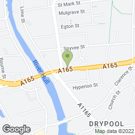 Map of Jack Rabbit Slims in Hull, north humberside