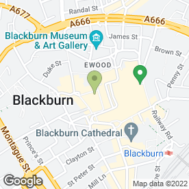Map of Halifax in Blackburn, lancashire