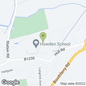 Map of Howden School in Howden, Goole, north humberside