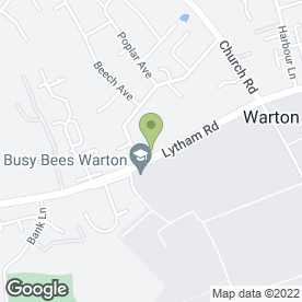 Map of Oaklands Caravan Storage in Warton, Preston, lancashire