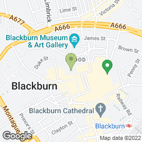 Map of Santander in Blackburn, lancashire