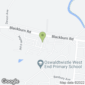 Map of Kath Riley in Oswaldtwistle, Accrington, lancashire