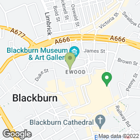 Map of Greggs in Blackburn, lancashire