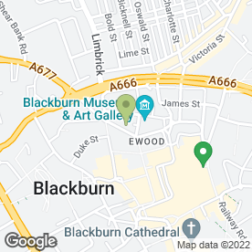 Map of Molloys in Blackburn, lancashire