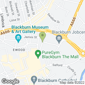 Map of Hampsons in Blackburn, lancashire