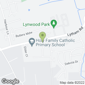 Map of Silverdawn Day Nursery in Warton, Preston, lancashire