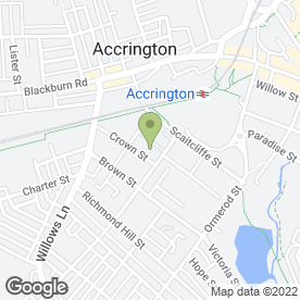 Map of APS Windows in Accrington, lancashire