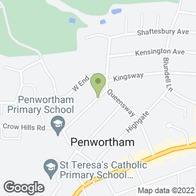 Map of Bob Wilson Scottish Piper in Penwortham, Preston, lancashire