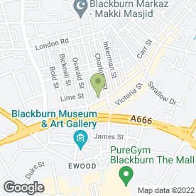 Map of Air Express Travel in Blackburn, lancashire