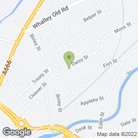 Map of Daisy Street Veterinary Centre in Blackburn, lancashire