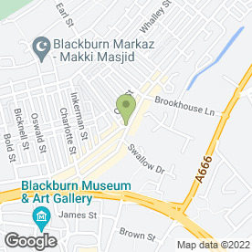 Map of Griller in Blackburn, lancashire