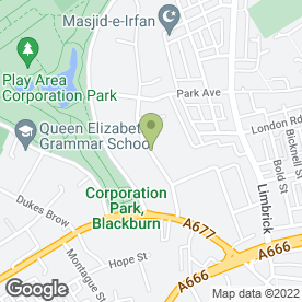 Map of Shahi Qila Restaurant in Blackburn, lancashire