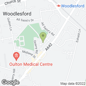 Map of Hodgson's Removals in Woodlesford, Leeds, west yorkshire