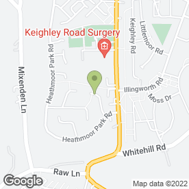 Map of CHRIS GREEN JOINERY SERVICES in Halifax, west yorkshire