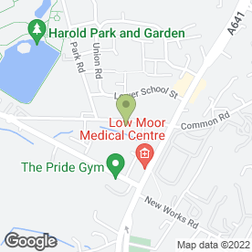 Map of 4 Motions Mobile Mechanic in Bradford, west yorkshire