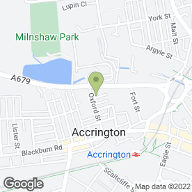 Map of Blinds Solutions in Accrington, lancashire