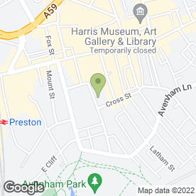 Map of Veritas Professional Legal Services Ltd in Preston, lancashire
