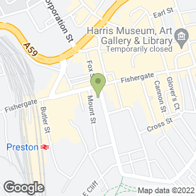Map of SKM Chartered Accountants in Preston, lancashire