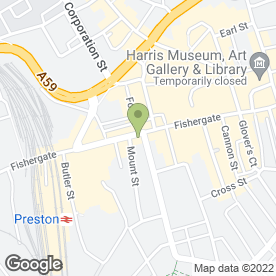 Map of Vodafone Ltd in Preston, lancashire
