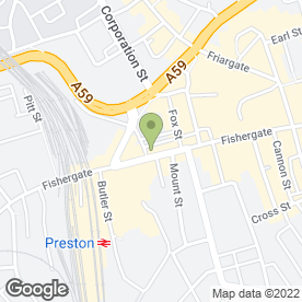 Map of Greggs in Preston, lancashire