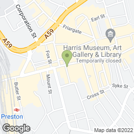 Map of Santander in Preston, lancashire