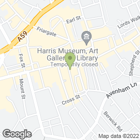 Map of MWR Solicitors in Preston, lancashire