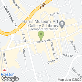 Map of 3 Store in Preston, lancashire