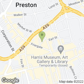 Map of Hampsons in Preston, lancashire