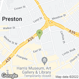 Map of Dan Kerr Brides in Preston, lancashire