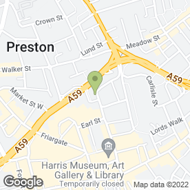 Map of Kudos Hair Co in Preston, lancashire