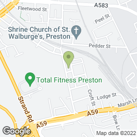 Map of Preston Transmissions in Preston, lancashire