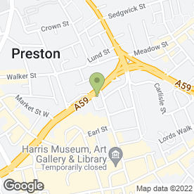 Map of Forbes Solicitors in Preston, lancashire