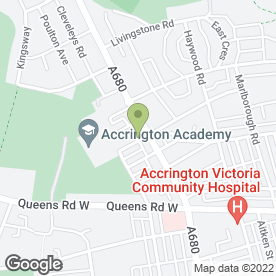 Map of Victoria Flower Shop in Accrington, lancashire