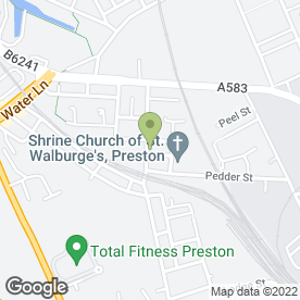 Map of St. Wahlberg's Medical Practice in Preston, lancashire