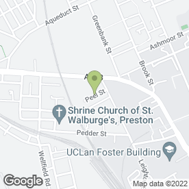 Map of Preston Tyres Specialists in Bamber Bridge, Preston, lancashire