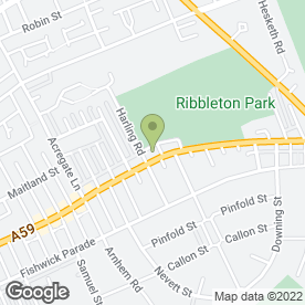 Map of Andrew Robinson in Preston, lancashire