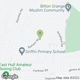 Map of Griffin Primary School in Hull, north humberside