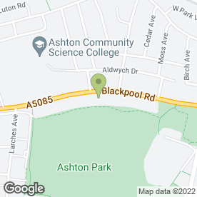 Map of Ashton Courier Co.Ltd in Ashton-on-Ribble, Preston, lancashire