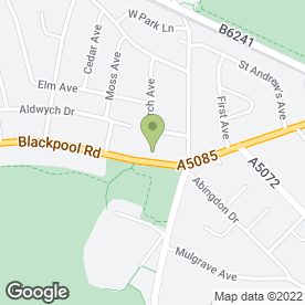 Map of APOLLO BEAUTY SALON in Preston, lancashire