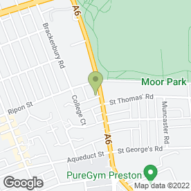 Map of Moor Park Surgery in Preston, lancashire