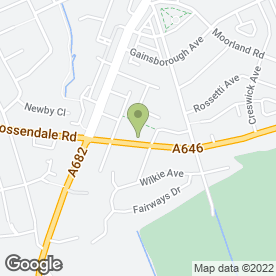 Map of Abbey Grange Residential Care Home in Burnley, lancashire