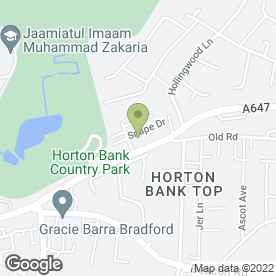 Map of Horton Bank Practice in Bradford, west yorkshire
