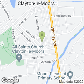 Map of P K Print Services in Clayton Le Moors, Accrington, lancashire