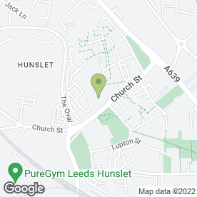 Map of Wm Morrison Supermarkets plc in Hunslet, Leeds, west yorkshire