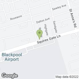Map of R.N Senior in Blackpool, lancashire