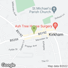 Map of MAISON OF BEAUTY in Kirkham, Preston, lancashire
