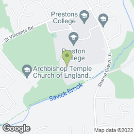 Map of Preston College in Fulwood, Preston, lancashire